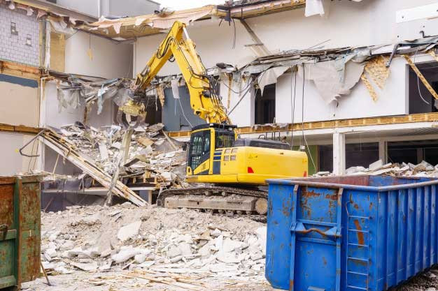 demolition project with waste management